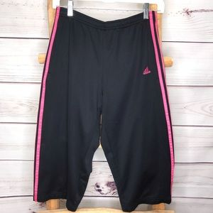 Adidas Capri Cropped Loose Athletic Pants Small